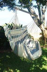 Lazy Rezy hangmat stoel grijstinten