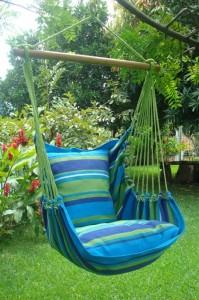 hangmat stoel blauw