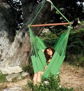Groene NewLine hangmat stoel
