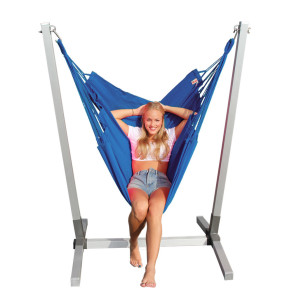 Blauwe Newline hangmat stoel