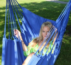 blauwe newline hangmat
