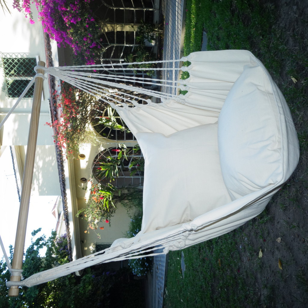 hangmat stoel gemaakt van organic katoen