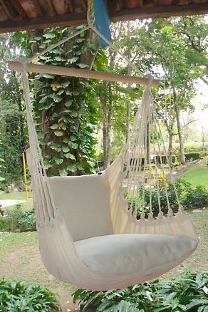 hangmat stoel katoen in een XL maat