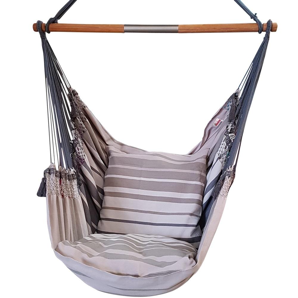 hangmat stoel grijs